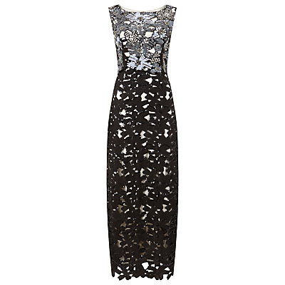 Phase Eight Collection 8 Candy Embellished Dress, Black/Pewter