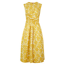 Buy Hobbs Twitchill Dress, Yellow White Online at johnlewis.com