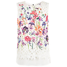 Buy Damsel in a dress Botanical Floral Top, Cream Online at johnlewis.com