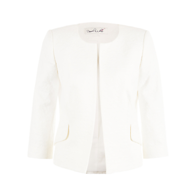 Damsel in a dress Textured Jacket, Cream