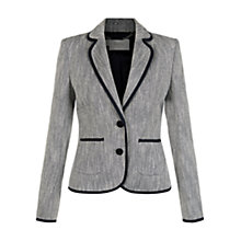 Buy Hobbs Estelle Jacket, Navy/Ivory Online at johnlewis.com