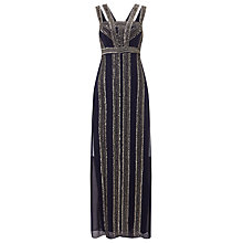 Buy Phase Eight Collection 8, Ursuline Embellished Full Length Dress, Navy Online at johnlewis.com
