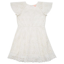 Buy Jigsaw Girls' Broderie Anglaise Dress, Off White Online at johnlewis.com