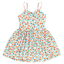 Buy Jigsaw Girls' Fish Print Dress, Multi Online at johnlewis.com