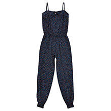 Buy Jigsaw Girls' Spot Print Jumpsuit, Navy Online at johnlewis.com