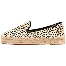 Buy Soludos Animal Print Platform Espadrilles, Leopard Online at johnlewis.com