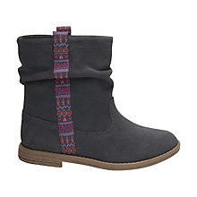 Buy TOMS Children's Suede Laurel Boot, Grey Online at johnlewis.com