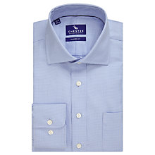 Buy Chester by Chester Barrie Broken Chevron Tailored Fit Shirt, Blue/White Online at johnlewis.com