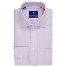 Buy Chester by Chester Barrie Semi Plain Textured Tailored Fit Shirt, Purple Online at johnlewis.com