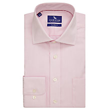 Buy Chester by Chester Barrie Fine Stripe Tailored Fit Shirt, Pink/White Online at johnlewis.com