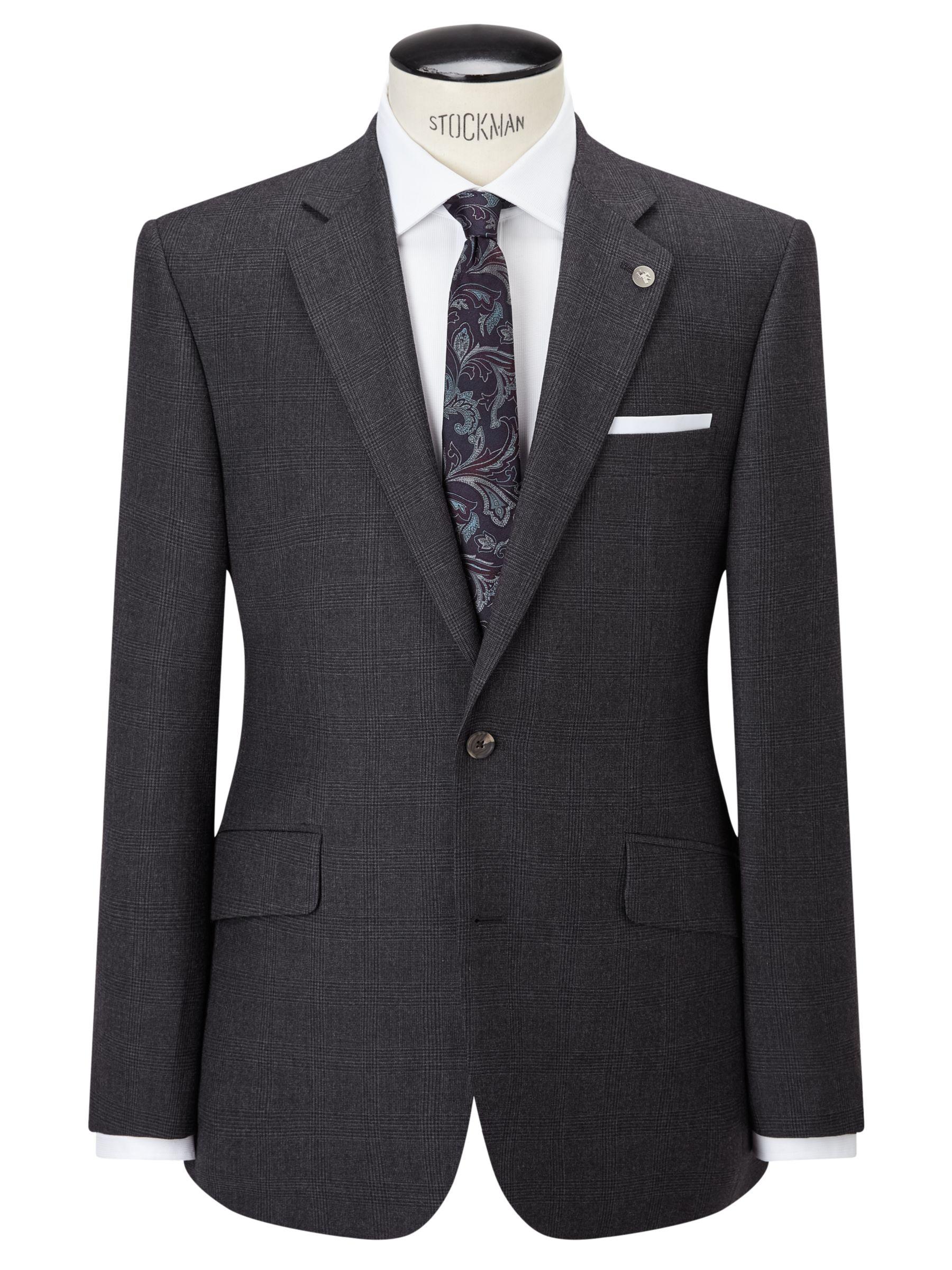 Chester by Chester Barrie Chester by Chester Barrie Glen Check Tailored Suit Jacket, Grey/Blue