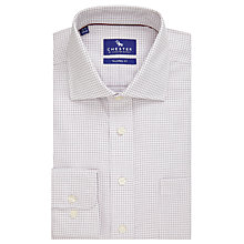Buy Chester by Chester Barrie Tattersall Grid Check Tailored Fit Shirt, Wine/White Online at johnlewis.com