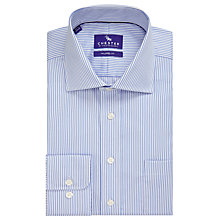 Buy Chester by Chester Barrie Twill Stripe Tailored Fit Shirt, Blue/White Online at johnlewis.com