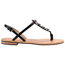 Buy Geox Soxy Toe Post Sandals, Black Online at johnlewis.com