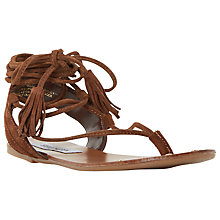 Buy Steve Madden Watchit Lace Up Flat Sandals Online at johnlewis.com