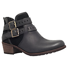 Buy UGG Patsy Double Buckle Ankle Boots, Black Online at johnlewis.com