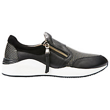 Buy Geox Omaya Zip Fastened Trainers, Black Online at johnlewis.com