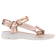 Buy Geox Sukie Sandals, Rose Gold/Peach Online at johnlewis.com