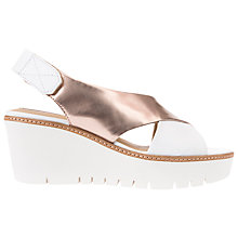Buy Geox Domezia Wedge Heeled Sandals, White Online at johnlewis.com
