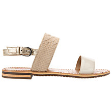 Buy Geox Sozy Sling Back Sandals, Taupe/White Online at johnlewis.com