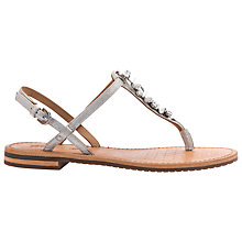 Buy Geox Sozy Toe Post Sandals, Silver Online at johnlewis.com