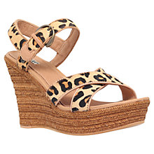 Buy UGG Jazmine Wedge Heeled Sandals, Brown/Leopard Online at johnlewis.com