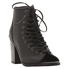 Buy Steve Madden Tempting Peep Toe Lace Up Boots Online at johnlewis.com