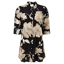 Buy East English Rose Silk Shirt, Black Online at johnlewis.com