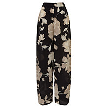 Buy East English Rose Silk Palazzo Trousers, Black Online at johnlewis.com