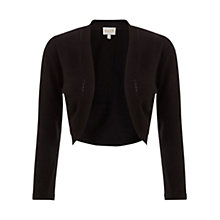 Buy East Edge to Edge Cover Up Cropped Cardigan, Black Online at johnlewis.com