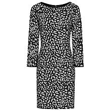 Buy Reiss Janie Textured Dress, Black/White Online at johnlewis.com