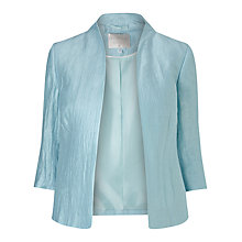 Buy Windsmoor Crinkle Open Front Jacket, Blue Online at johnlewis.com
