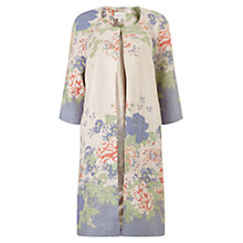Buy East Kyoko Print Linen Coat, Calico Online at johnlewis.com
