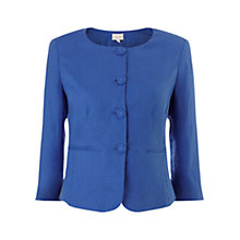Buy East Collarless Linen Jacket Online at johnlewis.com
