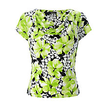 Buy Precis Petite Cowl Neck Jersey Top, Lime/Multi Online at johnlewis.com