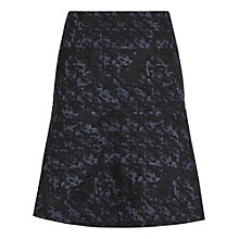 Buy Reiss Taffy Jacquard Mini Skirt, Night Navy Online at johnlewis.com