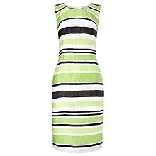 Buy Precis Petite Crinkle Stripe Dress, Green/Multi Online at johnlewis.com