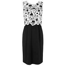 Buy Precis Petite Lace Bodice Dress, Black/Ivory Online at johnlewis.com