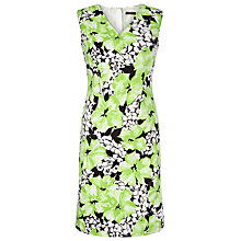 Buy Precis Petite Floral Print Sateen Dress, Green/Multi Online at johnlewis.com