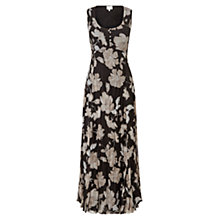 Buy East English Rose Sleeveless Pleated Dress, Black Online at johnlewis.com