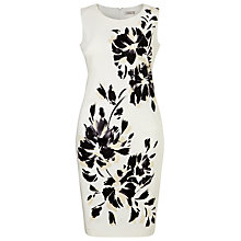 Buy Windsmoor Floral Placement Dress, Monochrome Online at johnlewis.com