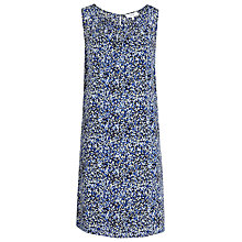 Buy Reiss Printed Dress, Blue Online at johnlewis.com