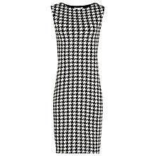Buy Reiss Lane Houndstooth Dress, Black/White Online at johnlewis.com