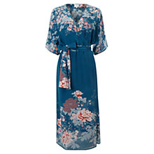 Buy East Silk Kyoto Kimono Dress, Blue Online at johnlewis.com