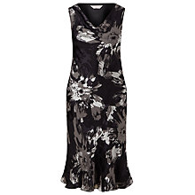Buy Windsmoor Floral Print Cowl Neck Dress, Black/Neutral Online at johnlewis.com