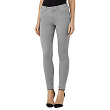 Buy Reiss Stevie Low Rise Skinny Jeans, Light Grey Online at johnlewis.com