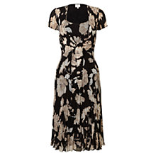 Buy East English Rose Tie Dress, Black Online at johnlewis.com