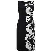 Buy Precis Petite Floral Shift Dress,  Black/White Online at johnlewis.com