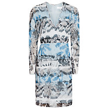 Buy Reiss Valetta Printed Dress, Multi Blue Online at johnlewis.com