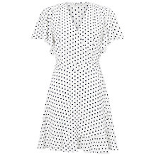 Buy Miss Selfridge Petite Spotted Wrap Dress, Ivory Online at johnlewis.com